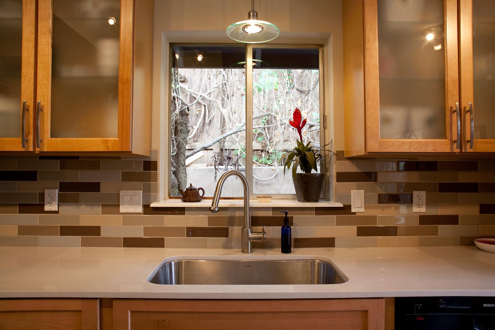 Kitchen backsplash accent tile