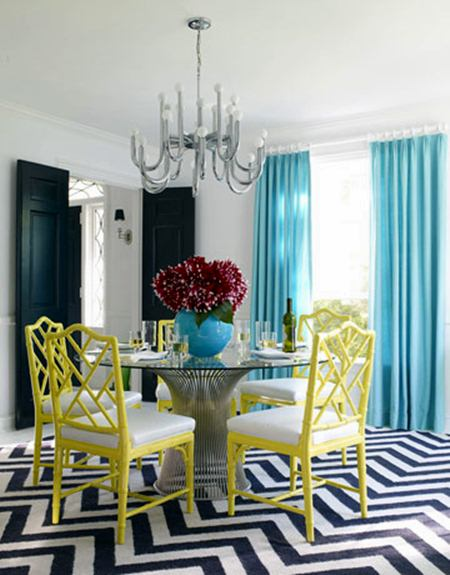 Bright and Modern Dining Room from House Beautiful