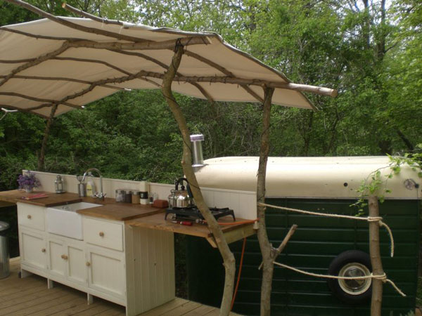 Oh so campy spark interior style for Outdoor camping kitchen ideas