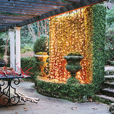 Hang Christmas Lights On Wall : DIY Holiday cheer make your house merry! Spark Interior Style