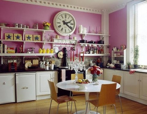 Pink Kitchen Walls pink walls | spark interior style